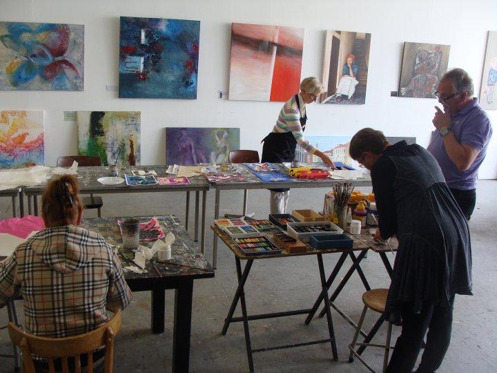 expositie en workshop cursisten.